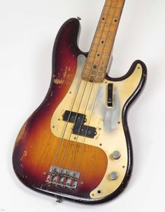 An all original 1958 Gold Guard Precision Bass.