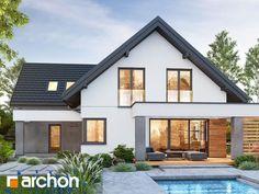 Dom w lobo Home Fashion, Cottage Homes, Larp, House Plans, Pergola, Villa, Exterior, House Design, Mansions