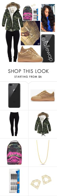 """schoo todayy"" by fallewap ❤ liked on Polyvore featuring NIKE, Helmut Lang, Hollister Co., Sprayground, King Ice and Paper Mate"