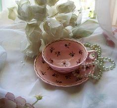 Vintage Wedgwood teacup  pink vintage teacups  by NewtoUVintage