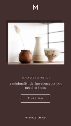 Japanese minimalist design concepts you need to know — Minimalism - Inspired by minimalist design, but don't know how to update your style or space to embody it? Take your cue from Japanese aesthetics. Minimalist House Design, Minimalist Decor, Minimal Design, Minimalist Style, Minimalist Fashion, Japanese Minimalism, Japanese Aesthetic, Classy Aesthetic, Aesthetic Vintage