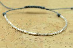 Beaded bracelet . Sterling silver por Zzaval en Etsy