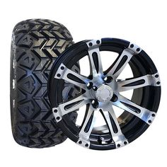 """Golf Cart Tire & Wheel Assembly - 14"""" High Profile Tires/Wheels"""