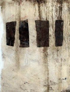 Scott Bergey Superbad 129 Mixed media on cardboard April 2012 by art_magazine_iran Black And White Abstract, White Art, Abstract Drawings, Abstract Art, Modern Art, Contemporary Art, Encaustic Art, Collage Art, Letter Collage