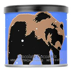 #Grizzly Bear in Winter Hot Chocolate Drink Mix - #Chocolates #Treats #chocolate