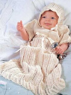 Free Crochet Pattern -- Angel Christening Gown