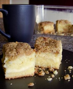 Buttery Cream Cheese Coffee Cake with Cream Cheese Filling! Via Kitchen Lab