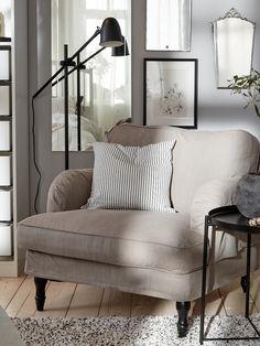 Ikea Stocksund, Inspiration Ikea, Pipe Decor, Ikea Family, Sofa Legs, Fabric Armchairs, Table Frame, Cozy Place, Bedroom Furniture