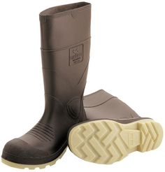 """Tingley High Quality PVC Steel Toe Work Boots 51244 - 15"""" Tall, Crepe Soles"""