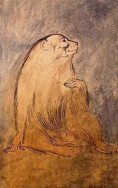 Seated monkey - Pablo Picasso