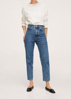 Jeans Fit, Mom Jeans, Quebec, Mango, Tomboy Fashion, Latest Fashion Trends, Shopping, Fitness, Cotton