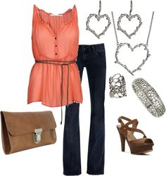 Coral Brown, created by calyson on Polyvore