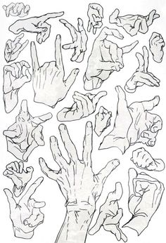 Hand positions_ drawing_
