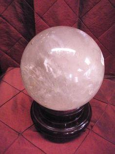 "large Quartz Crystal sphere diameter is 6.5"""