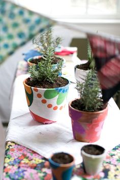 DIY Fabric Covered Planters + A Beauty Herb Garden with Boden - Henry Happened