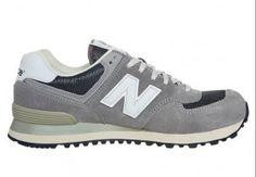 Vente 2015 Chaussures Casual pour Femmes New Balance ML 574 Gris Noir(Black) et Blanche Nantes pas cher en ligne