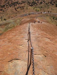 It's time to walk back down Ayers Rock.  Make sure that you have some grip on those shoes.