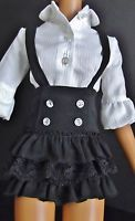 Black ruffles and lace with faux rhinestones for Hasbro's retired Lorifina 20 inch dolls.