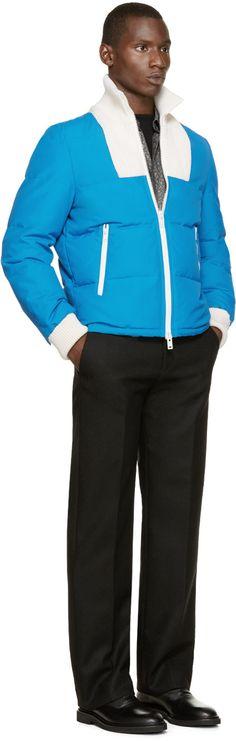 Maison Margiela Blue & Ivory Quilted Jacket