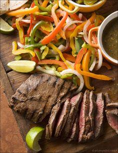 Flat Iron Steak Fajitas ~ Sammie Hollywood's collection