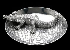 Arthur Court Logo Alligator Chip & Dip $190.00 Suggested retail  Categories:	Dining & Entertaining » Serving Pieces » Chip & dips Product ID:	103342