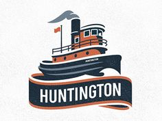 Huntington - inspired by minimalist logos of the 1950s and 1960s