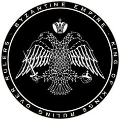 Byzantine Empire Double Headed Eagle Black n White by williammarshalstore Oriental, Double Headed Eagle, Chinese Dragon, Knights Templar, First Art, Serbian, Black N White, Byzantine, Ruler