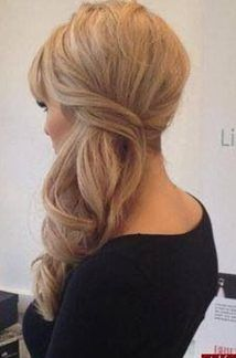 Wedding Hairstyles Medium Hair hair style for medium hair hair style for medium hair Wedding Hairstyles For Long Hair, Wedding Hair And Makeup, Pretty Hairstyles, Bridesmaid Hairstyles, Hair Wedding, Hairstyle Wedding, Bridal Hairstyles, Bridal Updo, Hair To The Side Wedding