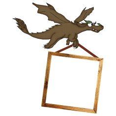 Free Digital Scrapbook Element: Brown Dragon Frame  
