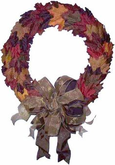 5 Easy Ways to Add Color to Fall Decorating with Inexpensive Silk Leaves Autumn Leaves, Cool Things To Buy, Bows, Wreaths, Fall Decorating, Silk, Halloween, Easy, Projects