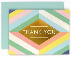 print & pattern blog - galison, thank you card, greeting card, bold, foil, geometric, design,