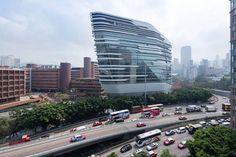 Jockey Club Innovation Tower by Zaha Hadid | wordlessTech