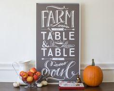 Farm to Table Canvas