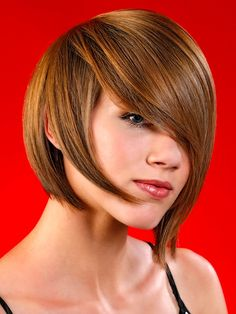 Thick hair just falls into place in this shaggy layered haircut. Heavy layering removes bulk and eases styling and creates flattering frame around the face. Edgy Medium Hairstyles, Edgy Haircuts, Girls Short Haircuts, Medium Short Hair, Layered Haircuts, Short Bob Hairstyles, Short Hair Cuts, Medium Hair Styles, Cool Hairstyles
