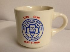 Girl Scouts Mug Take Stock in New York 1776 1976 Coffee Cup Vintage