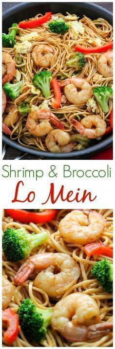 20-Minute Shrimp and Broccoli Lo Mein - so much better than take-out!!! (Favorite Recipes Dinner)