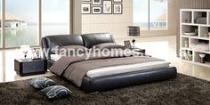 Edmund - Italian Leather Bed Frame l Fancy Homes