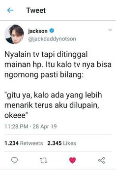 Bacotan Idol  Di twitter pada rame bacot  🍑 EXO 🍑 BTS 🍑 NCT 🍑 GOT… #random #Random #amreading #books #wattpad Tumblr Quotes, Text Quotes, Jokes Quotes, Mood Quotes, Funny Quotes, Life Quotes, Funny Tweets Twitter, Quotes Lucu, Wattpad Quotes