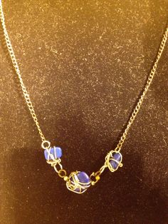 Royal Blue Unity Necklace Wirewrapped stone by LitteredNation, $34.00