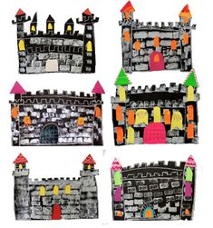 Easy stamped castle art project for kids Every grade level loves to make castles. I wanted an easy fairy tale castles project for my second grade students. Fairytale Castle, Fairytale Art, Fairy Tale Crafts, Fairy Tale Projects, Castle Crafts, Castle Project, Kindergarten Art Projects, Deep Space Sparkle, Easy Art Projects