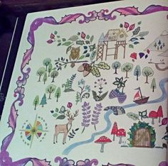 Johanna Basford Enchanted Forest Map Left Page