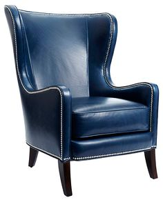 One Kings Lane - The Living Library - Dempsey Chair, Navy