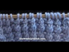 Blanket Rib Stitch - this is a really pretty stitch, which looks complicated but is a very simple repeat