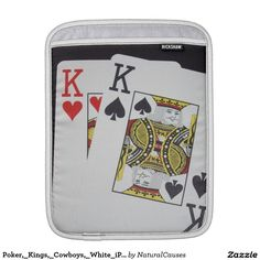 Poker,_Kings,_Cowboys,_White_iPad_Padded_Sleeve Sleeve For iPads