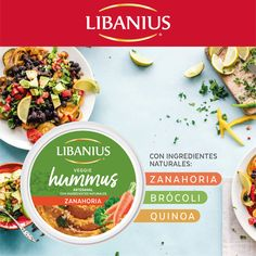 ¡Un alimento muy completo! Vegetales + semillas. Hummus, Quinoa, Veggies, Bread, Food, Vegetable Recipes, Food Items, Vegetables, Brot