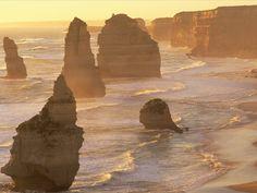 Limestone Stacks: Twelve Apostles, Australia  
