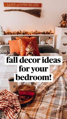 Fall Apartment Decor, Fall Bedroom Decor, Fall Home Decor, Autumn Home, Autumn Inspiration, Porch Decorating, Decorating Ideas, Decor Ideas, Autumn Decorating