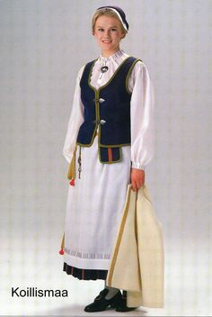 Finnish, Kolismaa - traditional costume of Finland Helsinki, Costumes Around The World, Folk Costume, World Cultures, Costumes For Women, Looking Gorgeous, Traditional Dresses, How To Wear, Folklore