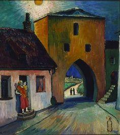 Marianne von Werefkin (Russian-Swiss painter) 1860 - 1938 Målning, 1925-29