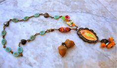 Art Bead Scene Blog - Perfect Pairings :: Ruby Acorn + Gaea + C-Koop + SueBeads + Grace Beads -
